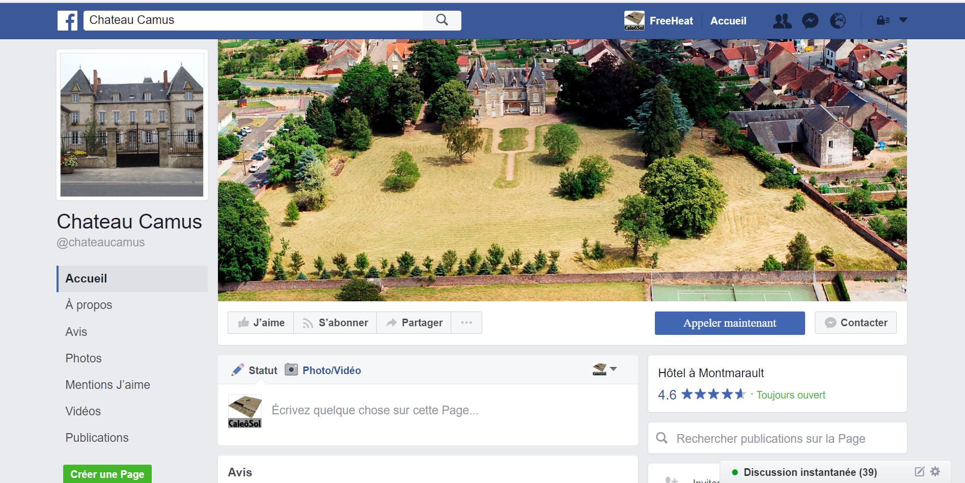le plafond chauffant rénovation chateau Camus sur Facebook
