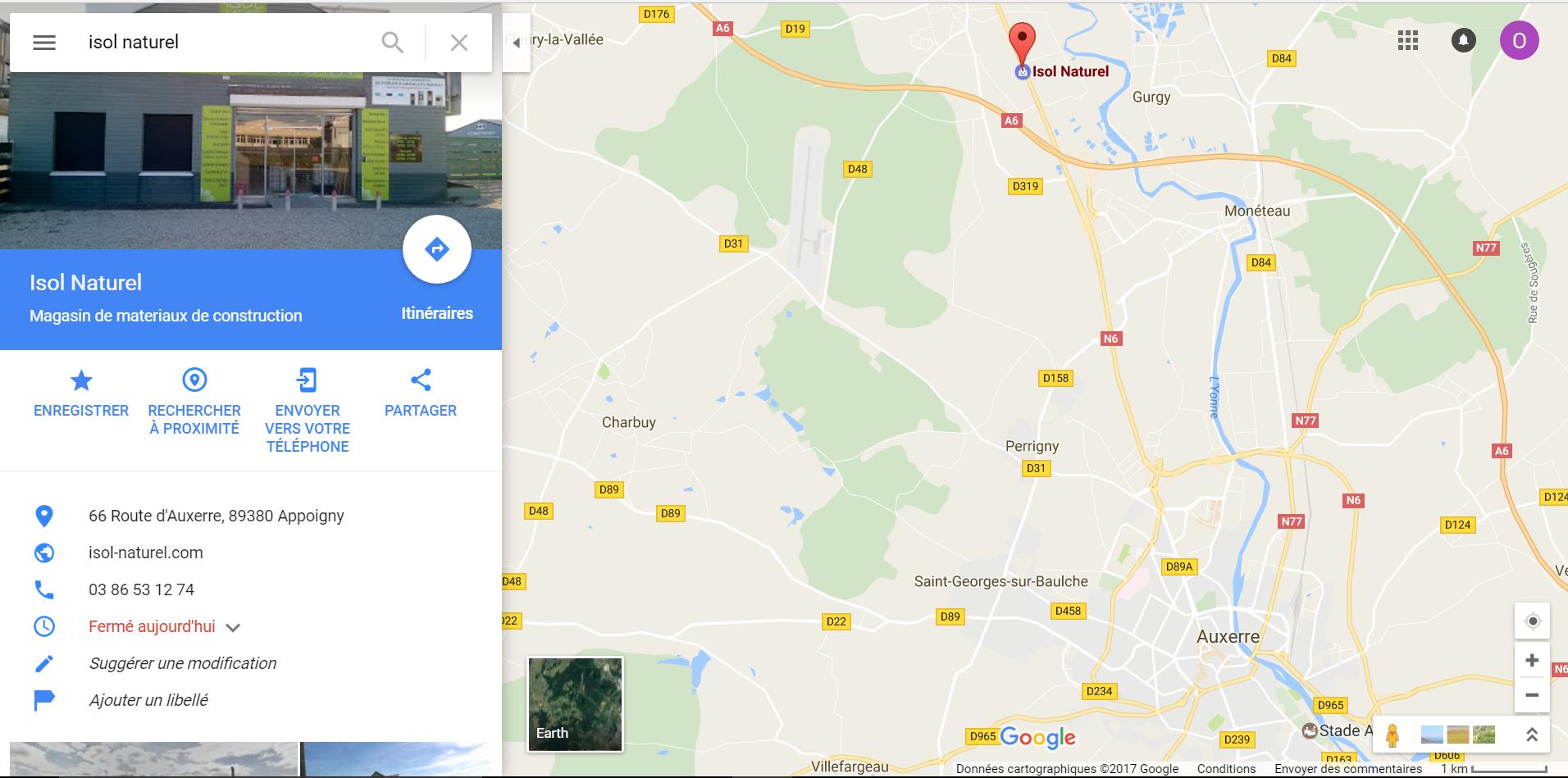 Position magasin plancher chauffant Isol Naturel Auxerre