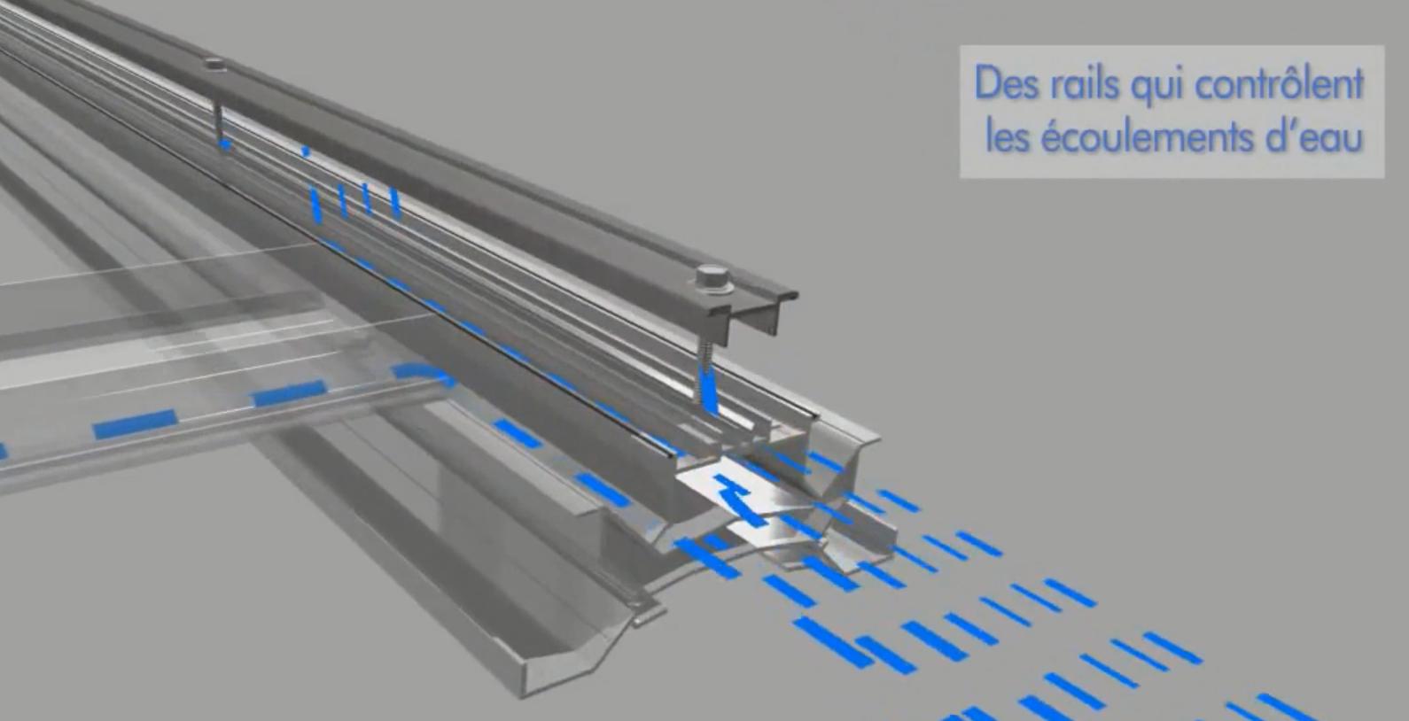 système d'intégration au bâti IAB pour brise-soleil intégré au bâti