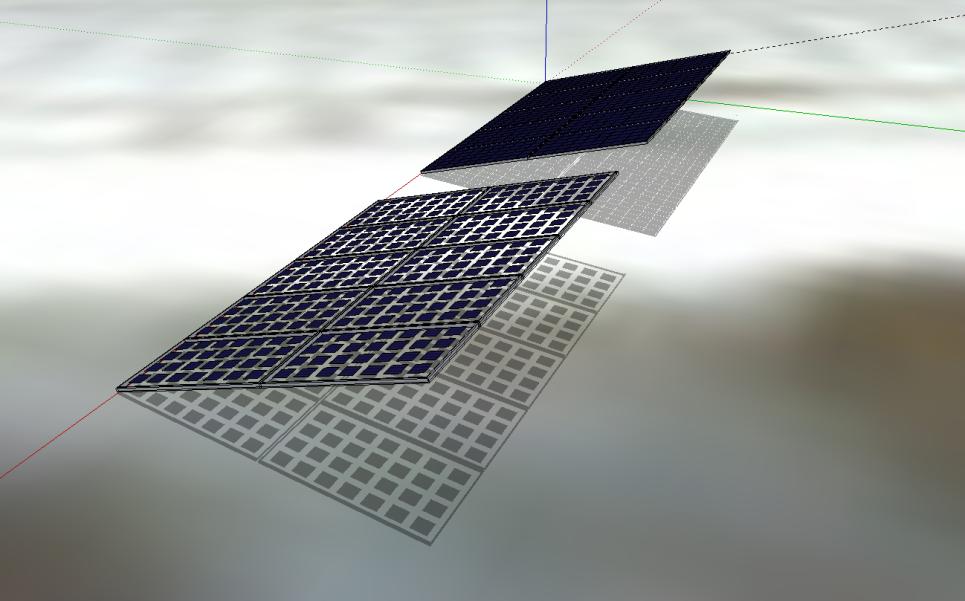 Photo Bisol: Image montrant la quantité de soleil passant au travers d''un panneau transparent par rapport à un panneau standard