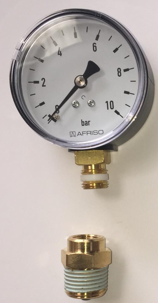 Manomètre pour test à la pression plancher chauffant