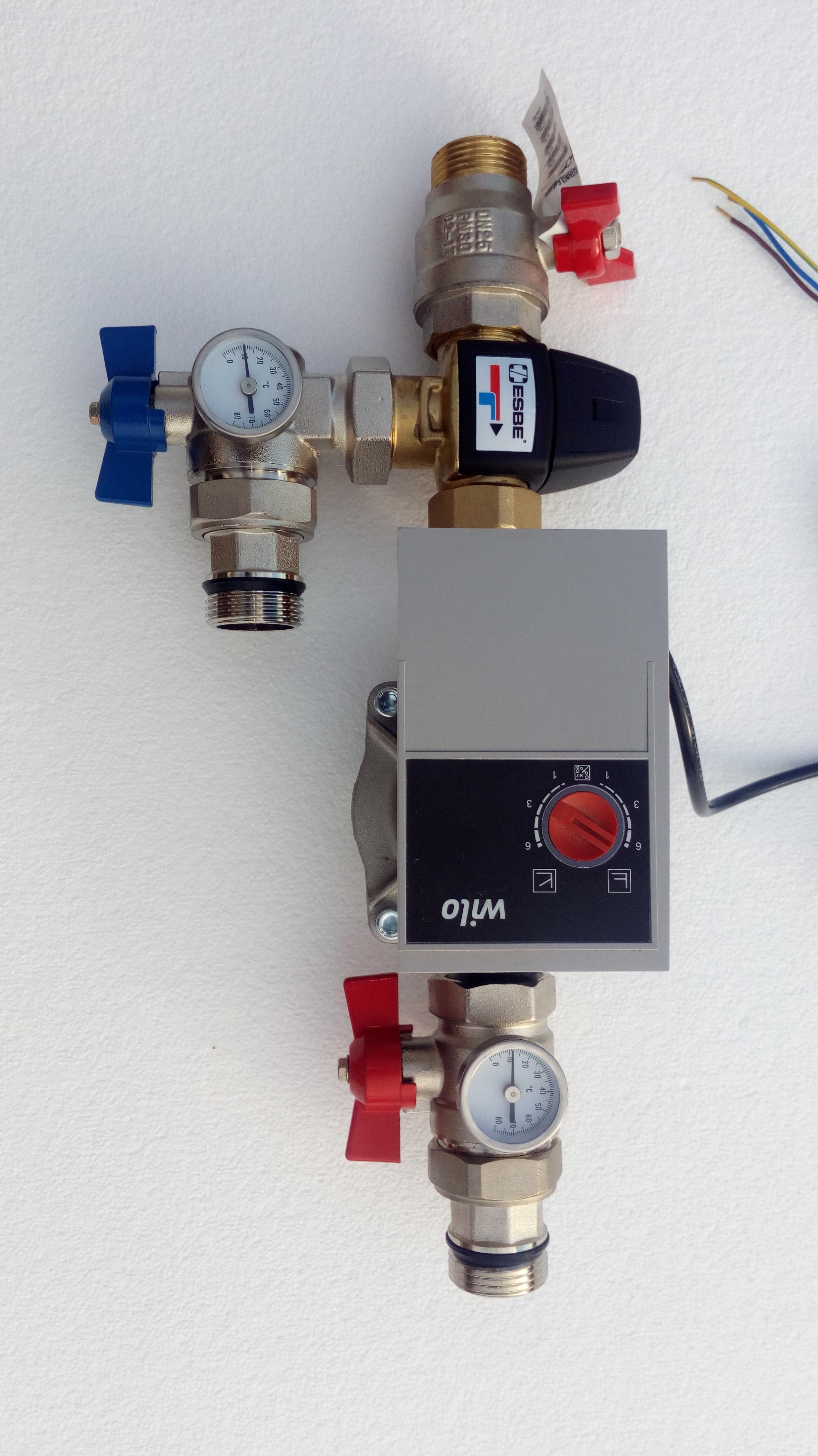 Station de mélange utilisée en vanne mélangeuse