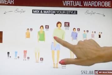 Virtual Shopping Wall