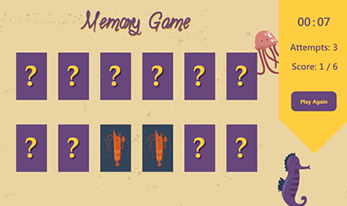 Memory Education Game