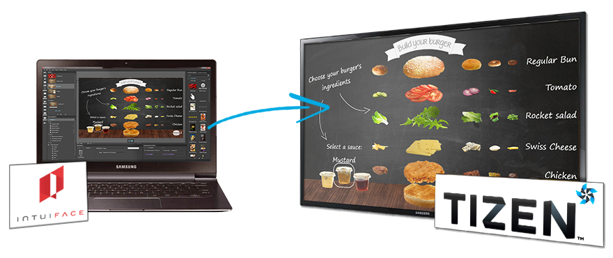 IntuiFace Digital Signage software  for Samsung SSP