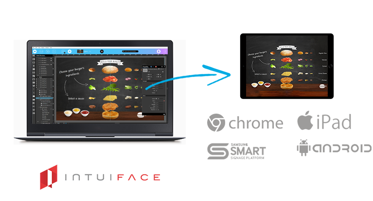 IntuiFace Digital Signage software  HTML5