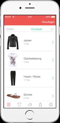 DailyDress Screenshot Kleiderschrank