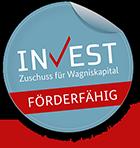 Logo BMWI Invest Förderfähig Zuschuss für Wagniskapital
