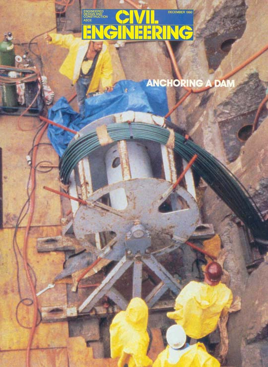 Nicholson installing anchors at Lake Lynn Dam