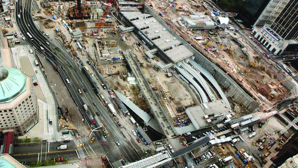 Nicholson performed extensive geotechnical work at the World Trade Center Transportation Hub