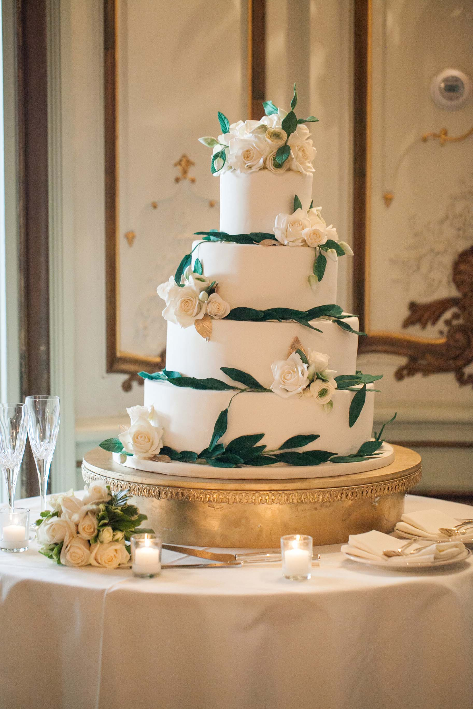 Beautiful wedding cake by My Daughter's Cakes Dumont, NJ
