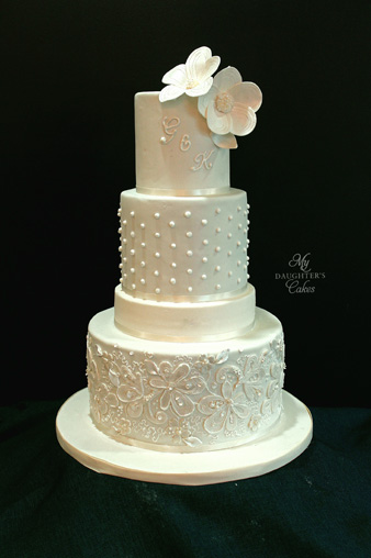 incorporate dress details into wedding cake my daughter s cakes