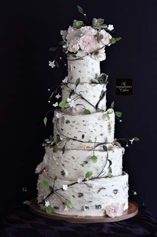 the wedding cake tree birch tree wedding cake at the chart house my s 20916