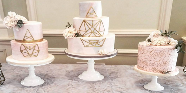 This Past Weekend We Created A Modern Wedding Cake Design For Bergen County Couple Wanting To Leave Behind The Traditional