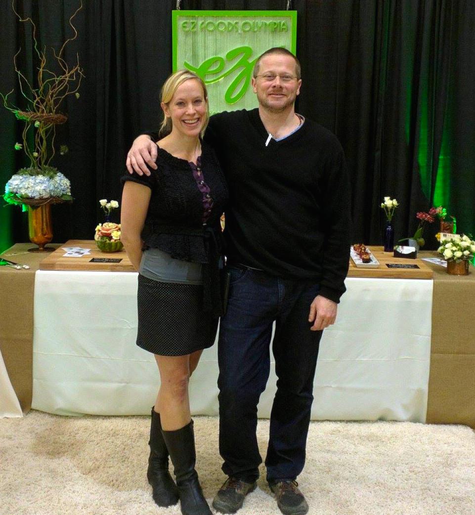 Sarah Boyle Jeff Nelson of EZ Foods Olympia