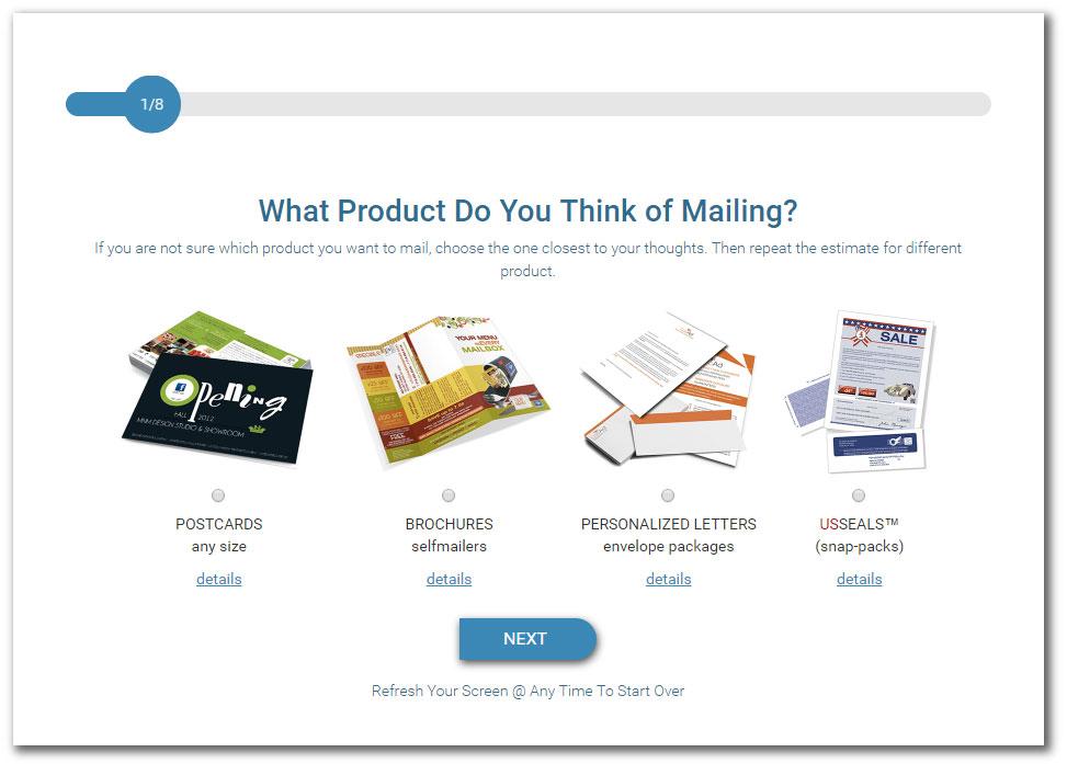 Direct Mail Cost Calculator