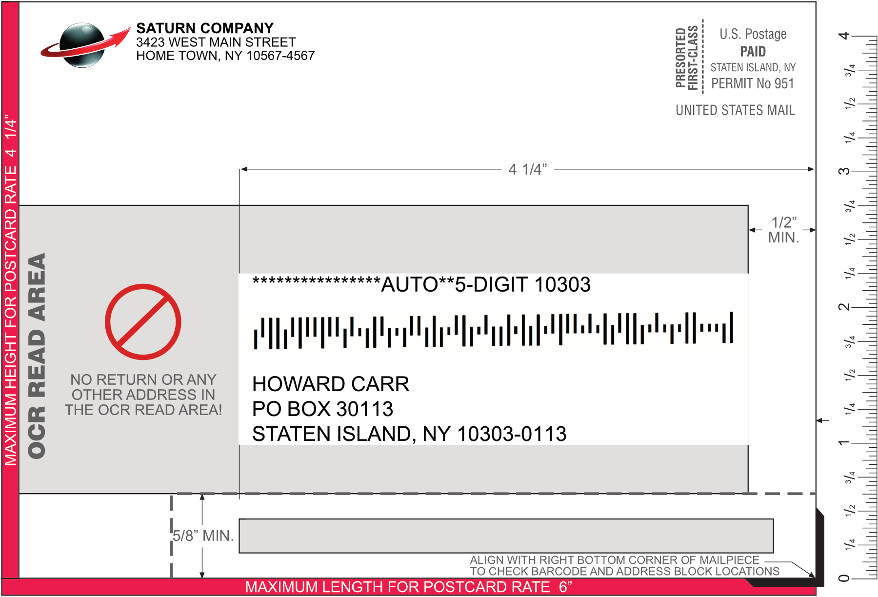 postcard addressing template flat mailpiece addressing template