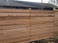 4th cedar fence