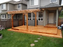 Photo of finished cedar deck