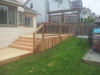 Finished cedar deck
