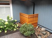 Custom cedar containment box