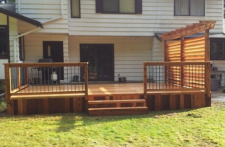 Third recent cedar patio