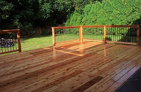 Finished cedar patio