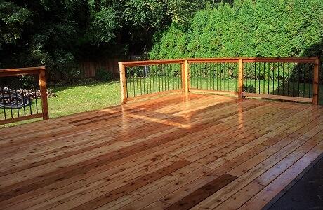 Finished cedar patio