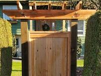 Finished cedar gate