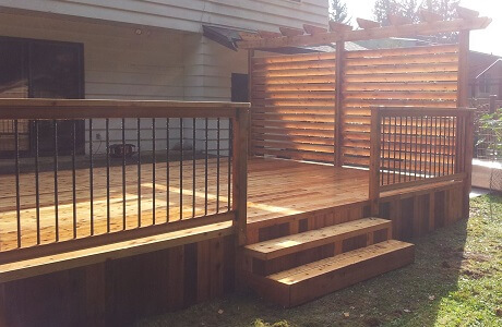 Recent cedar patio