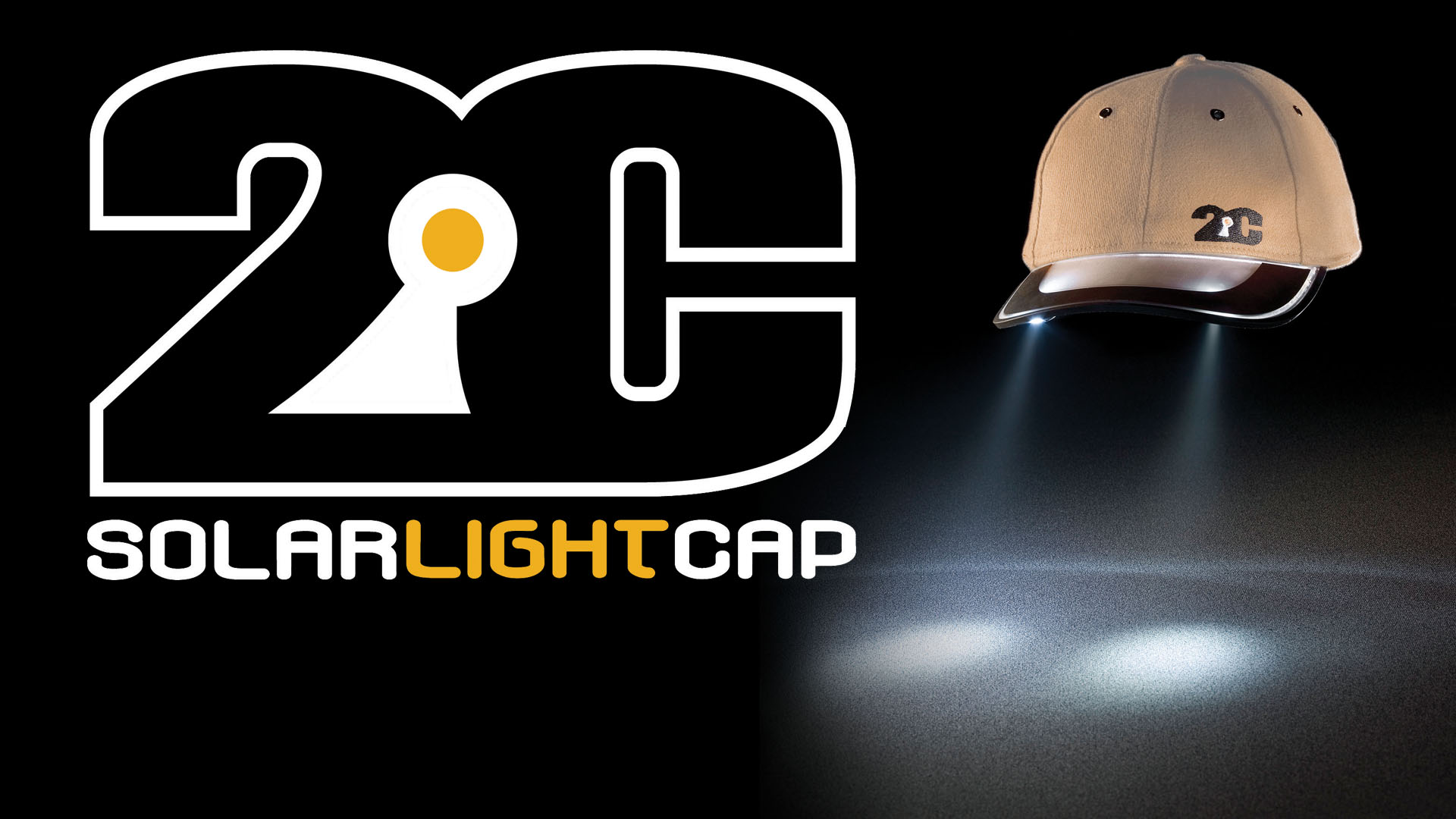 2C Solar Light cap - self charging wearable flashlight