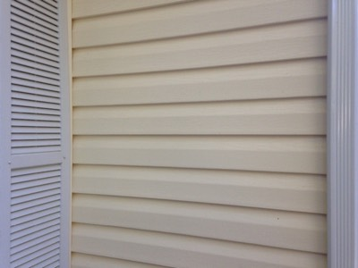 House siding in Brevard after being pressure washed