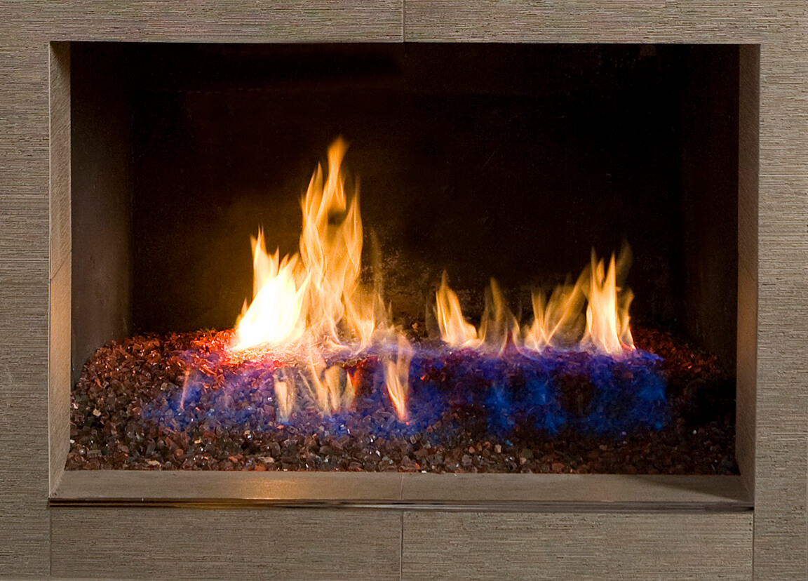 Copper Reflective Fire Glass
