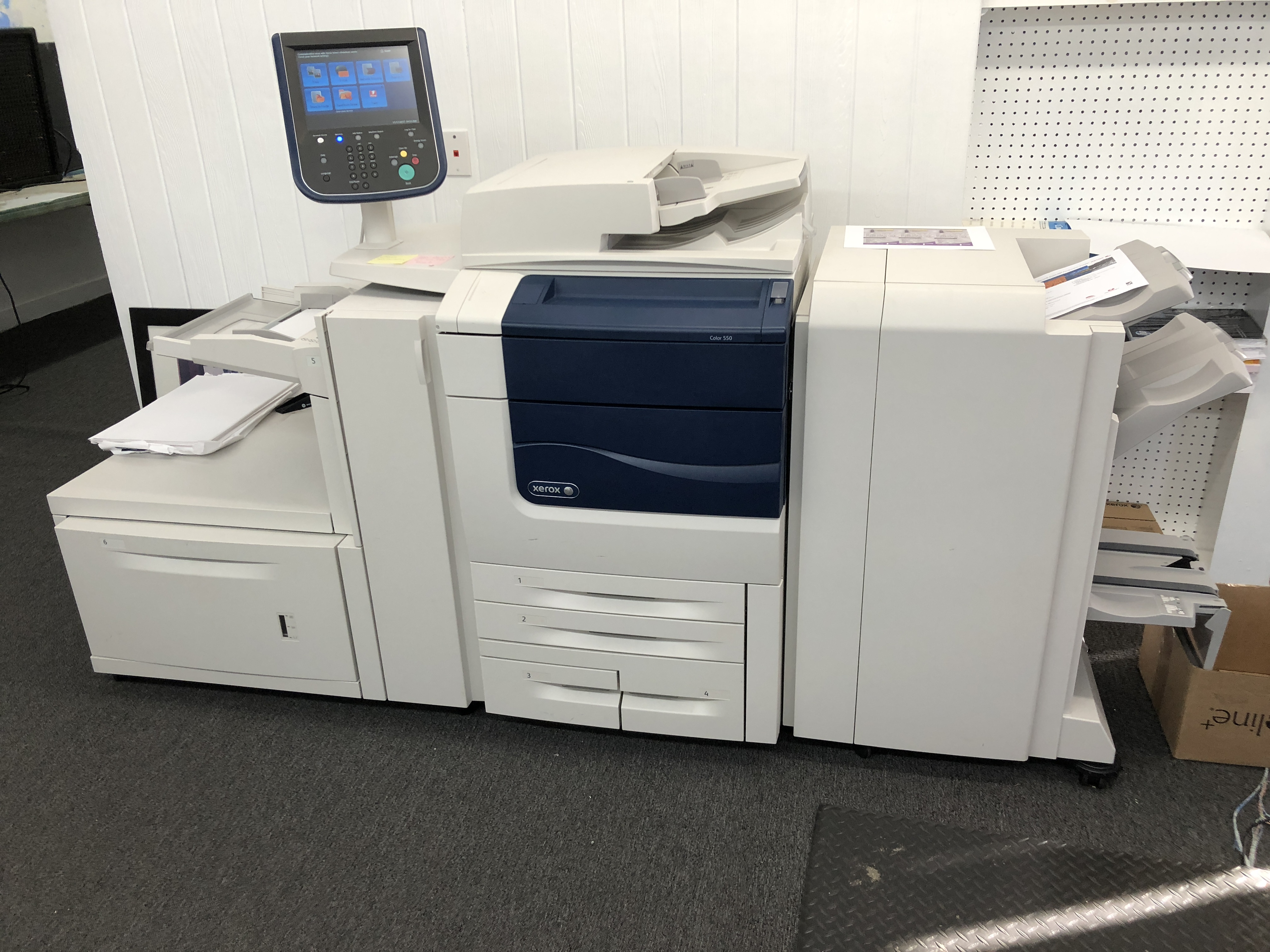 Our Xerox 550 Print Station