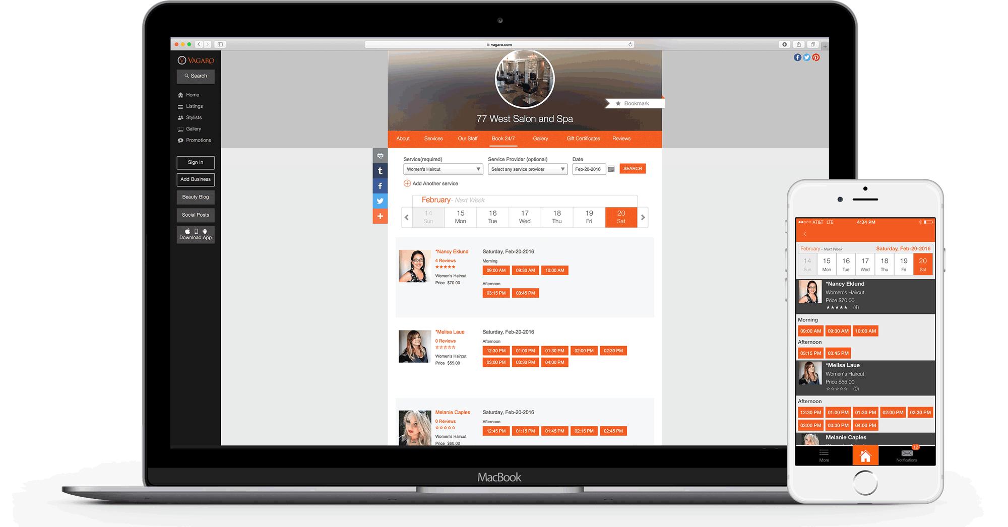 Vagaro Online Booking 24/7
