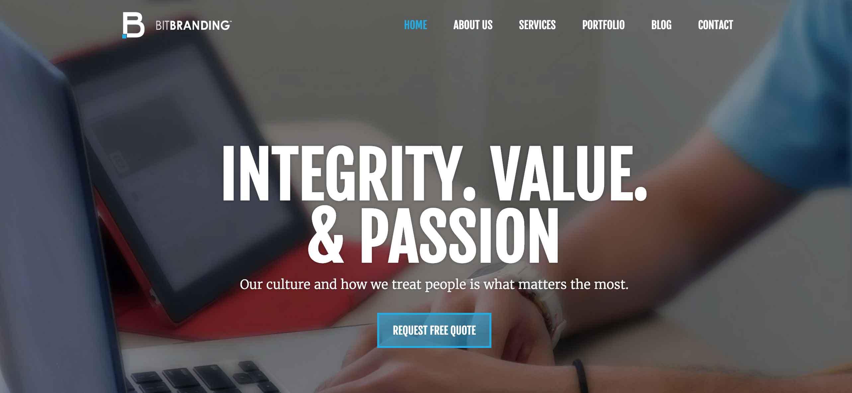 BitBranding website homepage