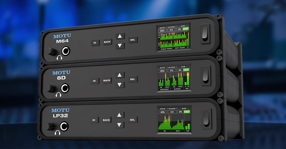 MOTU announces new M64, 8D and LP32 audio interfaces