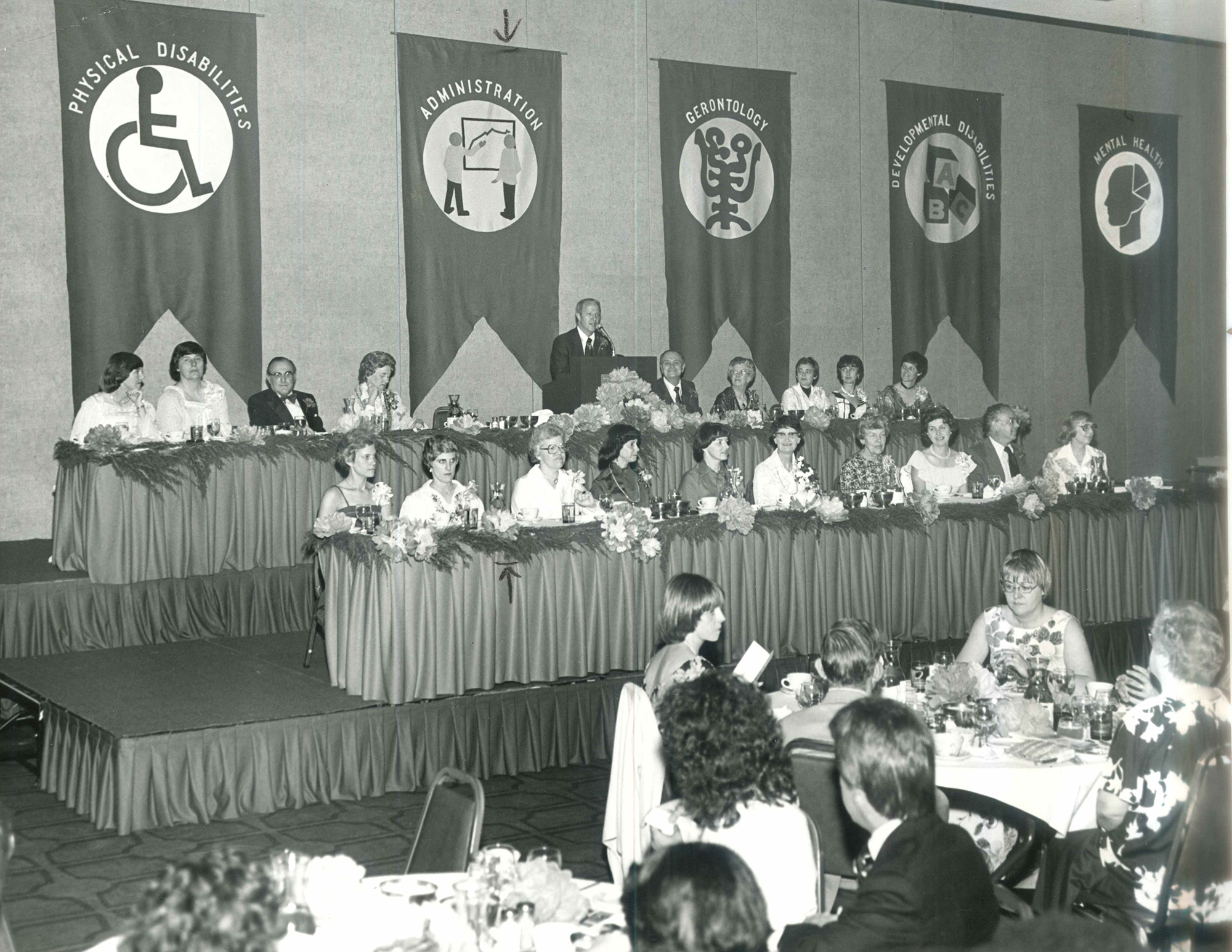 A banquet at the 1978 Annual Conference.