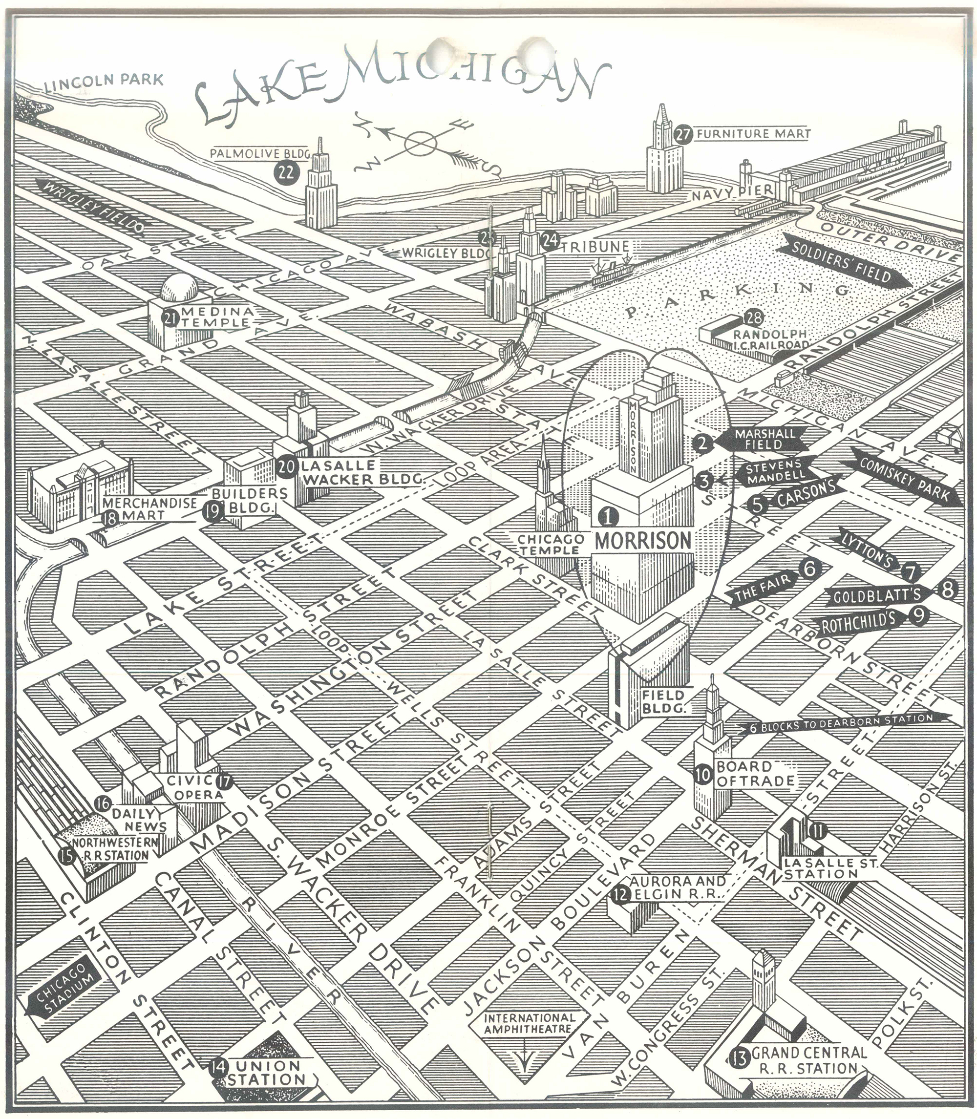 Map of Chicago from 1959.