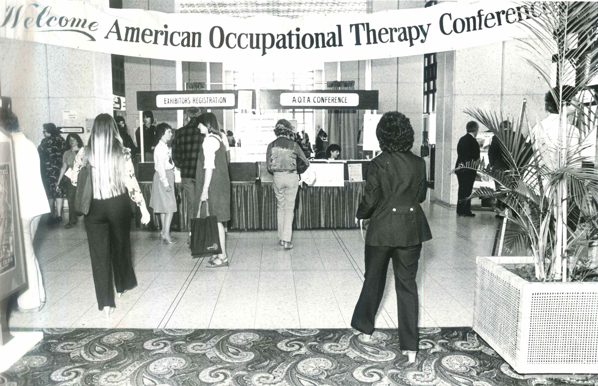 Registration area in 1980.