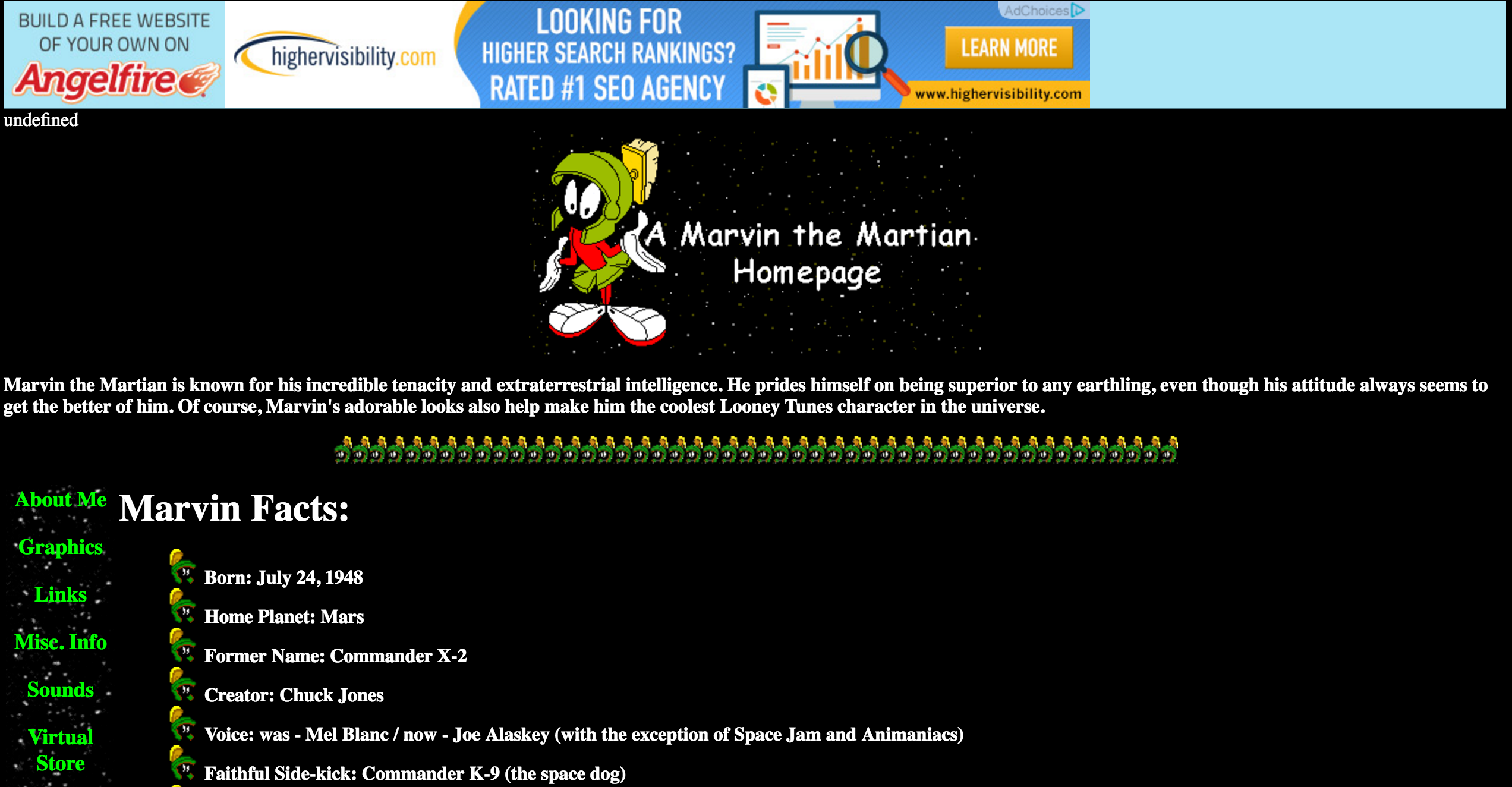 Marvin the Martian Website