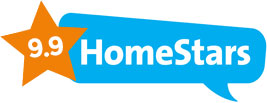 9.9 rating on Homestars for window cleaning service