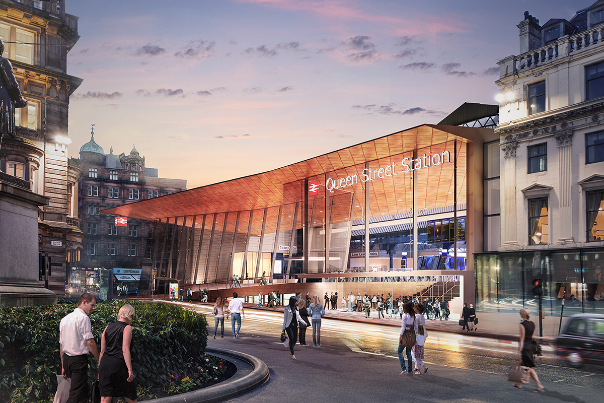 Movement Strategies provide passenger flow advice for the redevelopment of Glasgow's Queen Street station
