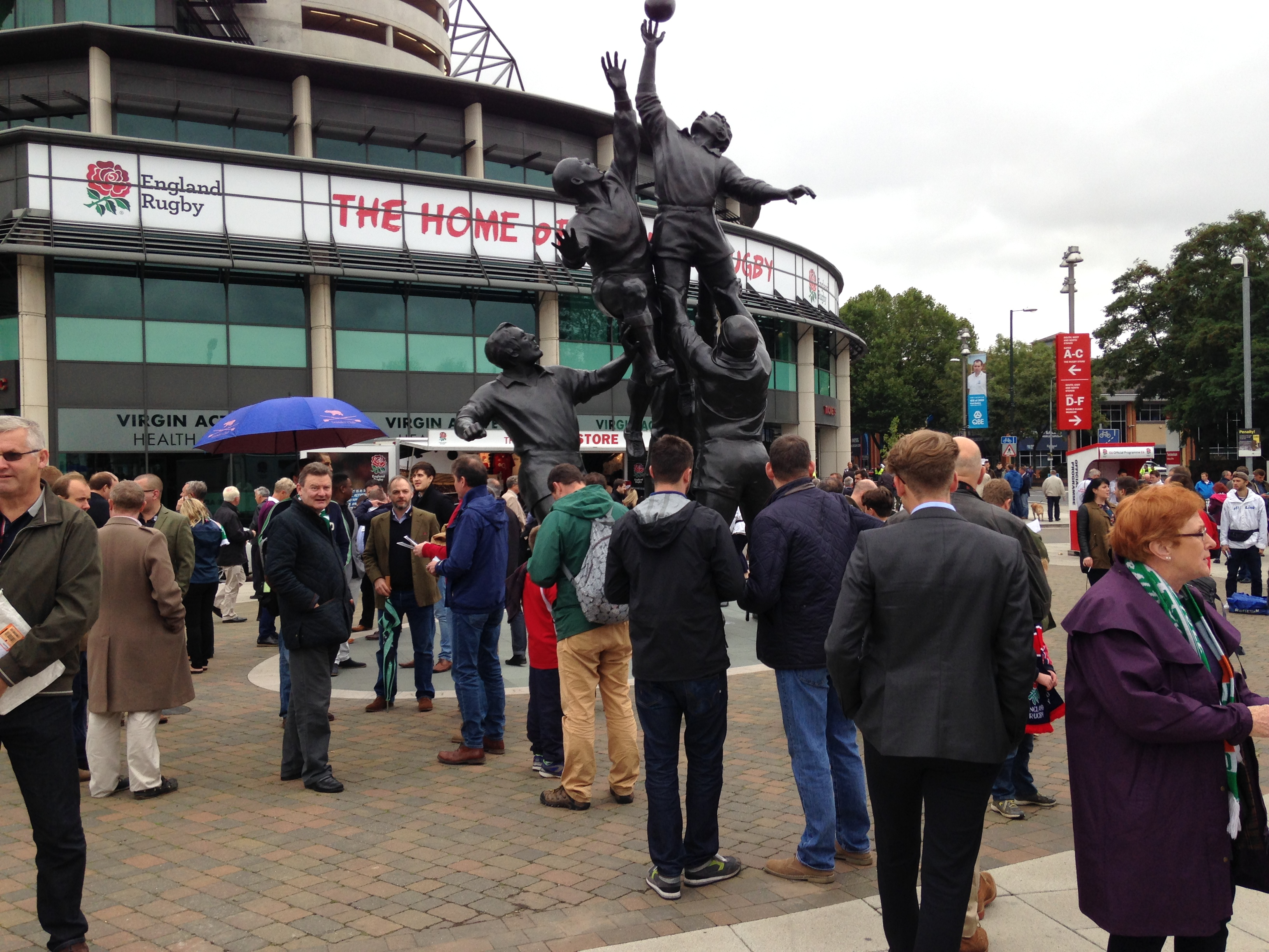 Safe Standing for crowd movement at Twickenham