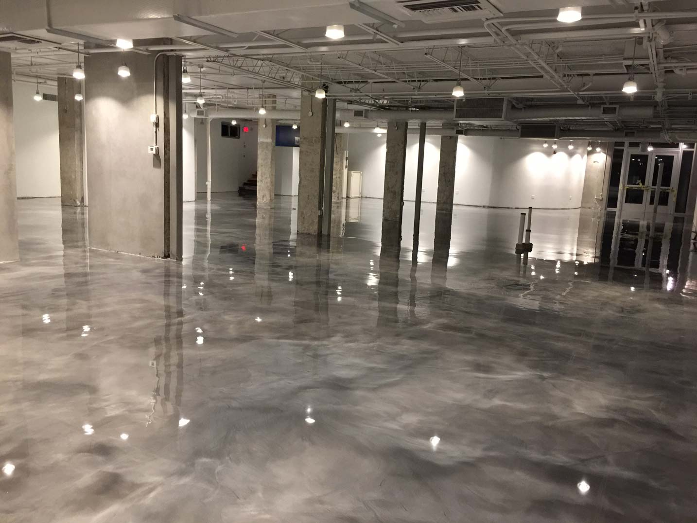 Metallic epoxy flooring metallic floors css coatings for Which floor or what floor