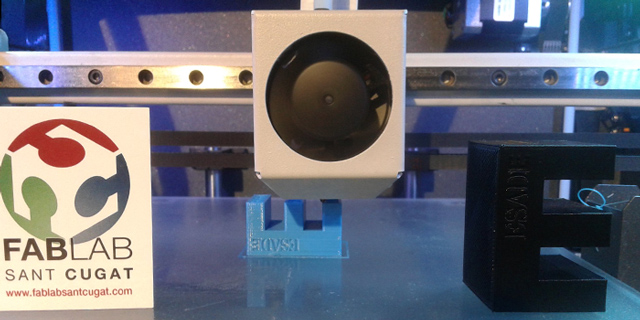 """Impression en 3D de la """"E"""" de ESADE"""
