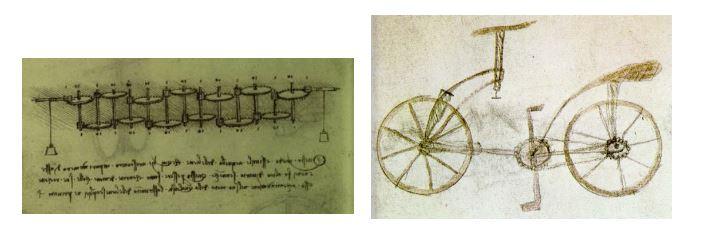 Calculadora y bicileta de Leonardo Da Vinci