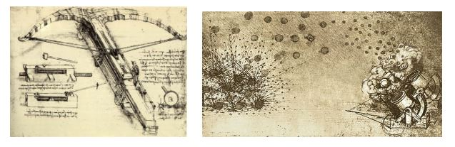 La ballesta y las municiones explosivas de Leonardo Da Vinci