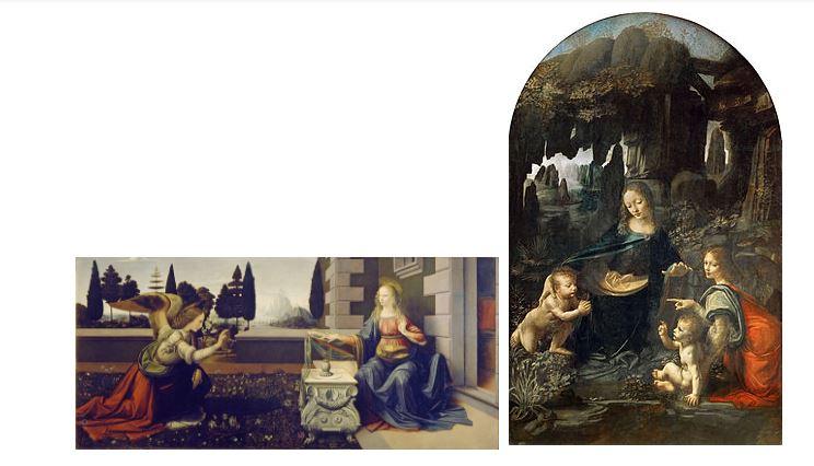 La Anunciación y La Virgen de las Rocas