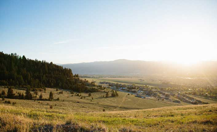 The South Hills Spur provides unparalleled views of the Missoula Valley.